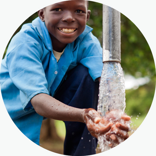 provide clean drinking water with a borehole