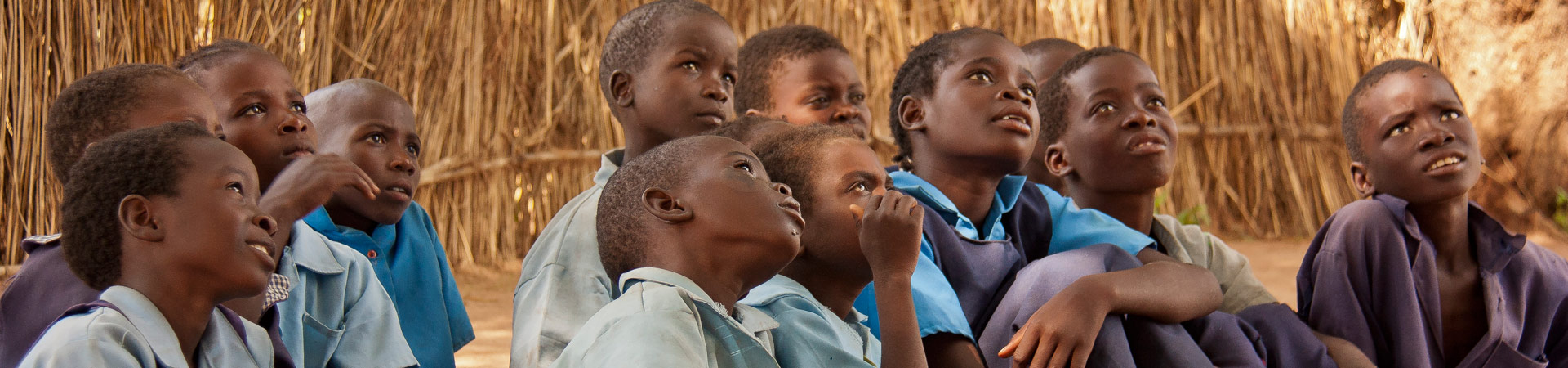 Raise a Smile - school pupils doing literacy - education in Zambia