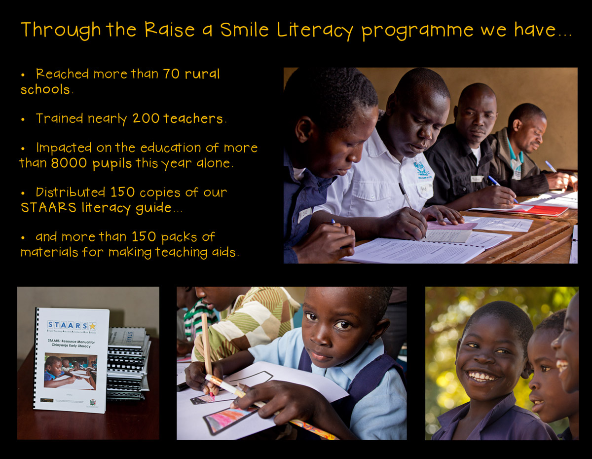 the Raise a Smile literacy programme in numbers