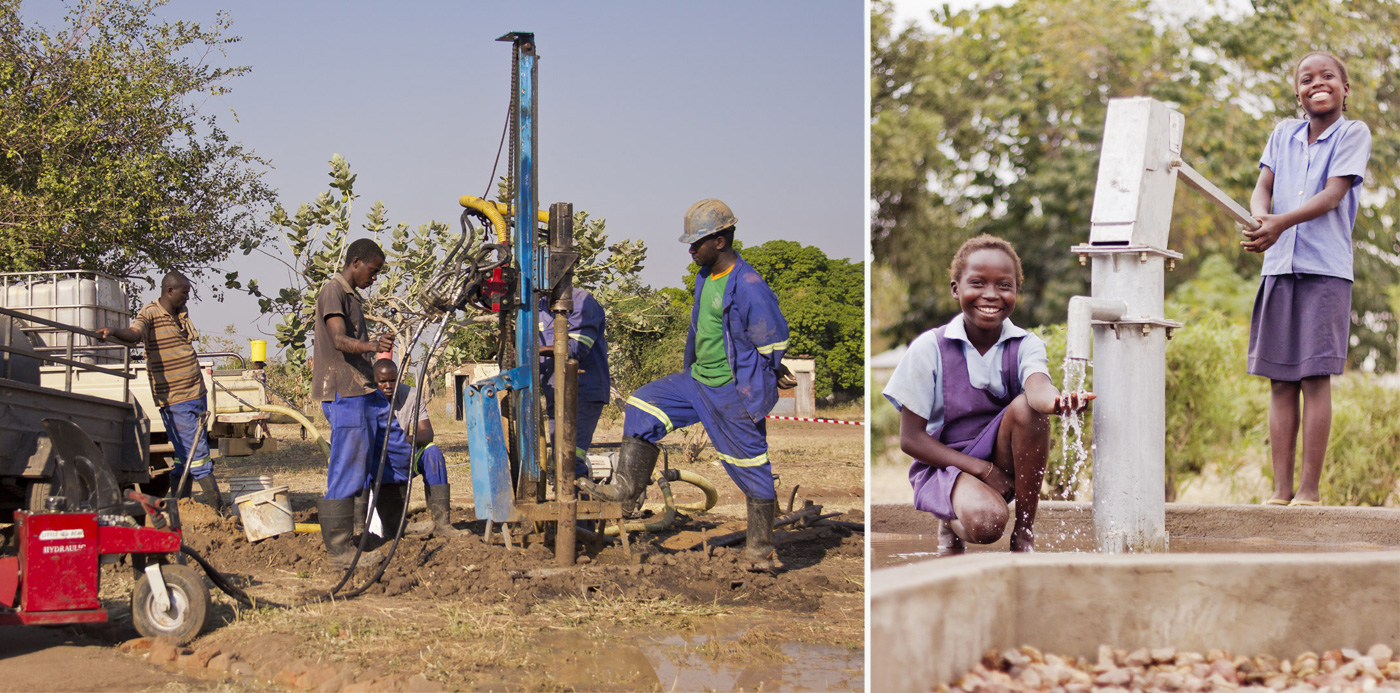 Raise a Smile water and sanitation for Mphata School