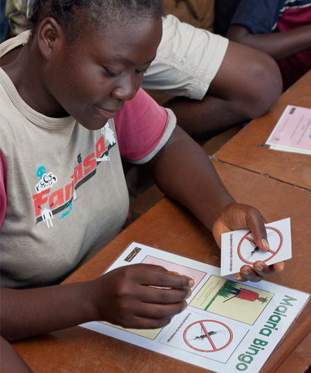 Malaria prevention in Zambia - Raise a Smile malaria games and activities